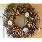 Lavender Shore Starfish Sand Dollars Wreath