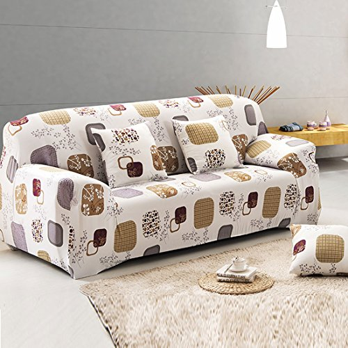 uxcell Elegant Flower Printed Polyester Home Hotel Elastic Sofa Cover Slipcover Protector 77-91 Inches (Cover Sofa compare prices)