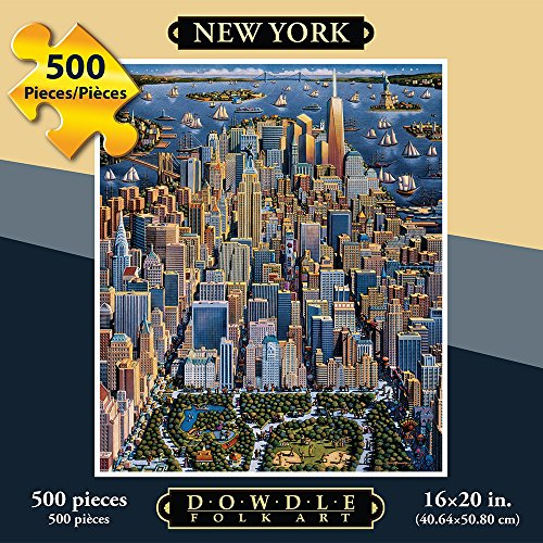 Jigsaw Puzzle - New York City 500 Pc By Dowdle Folk Art