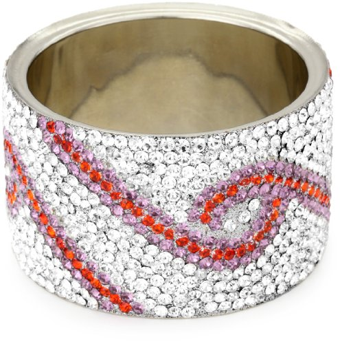 Chamak by priya kakkar 1 Extravagant Amethyst-Color Crystallized Bangle Bracelet