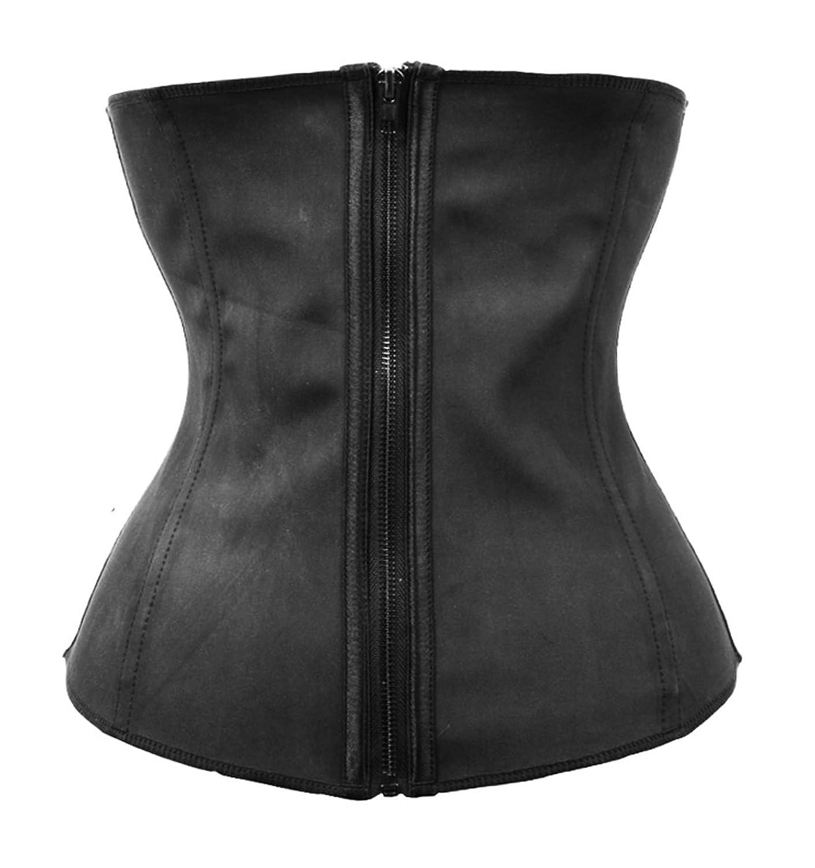 BSLINGERIE® Damen Sexy Latex Rubber Taillenmieder Shapewear Corsage