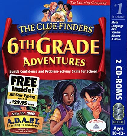 ClueFinders 6th Grade Adventures with All Star Typing Free (WIN/MAC)