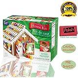 Paksh / Wilton Pre-Baked Christmas Holiday Gingerbread House Baking Kit, Petite