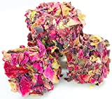 SUPER SUMMER SALE Marmara Real Red Rose Petals with Mixed Nuts Authentic Turkish Delights Sweet Confectionery Gourmet Gift Box Candy Dessert Extra Large 16 Oz