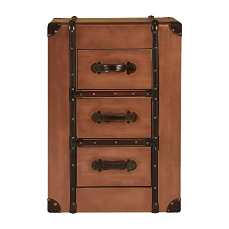 Navigator Drawer Chest Aluminium Copper 3 Drawers For Home Office Bedroom