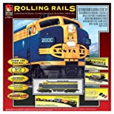 Lifelike 153711 HO Scale Train Set - Rolling Rails Diesel Freight with Carry Handle