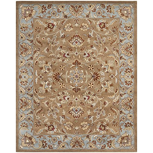 Safavieh Heritage Collection HG821A Handmade Beige and Blue Wool Area Rug, 7 feet 6 inches by 9 feet 6 inches (7'6