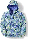 The North Face Printed Resolve Rain Jacket - Girls (Extra Large (18), Tnf White/Multi Print/Lavender)