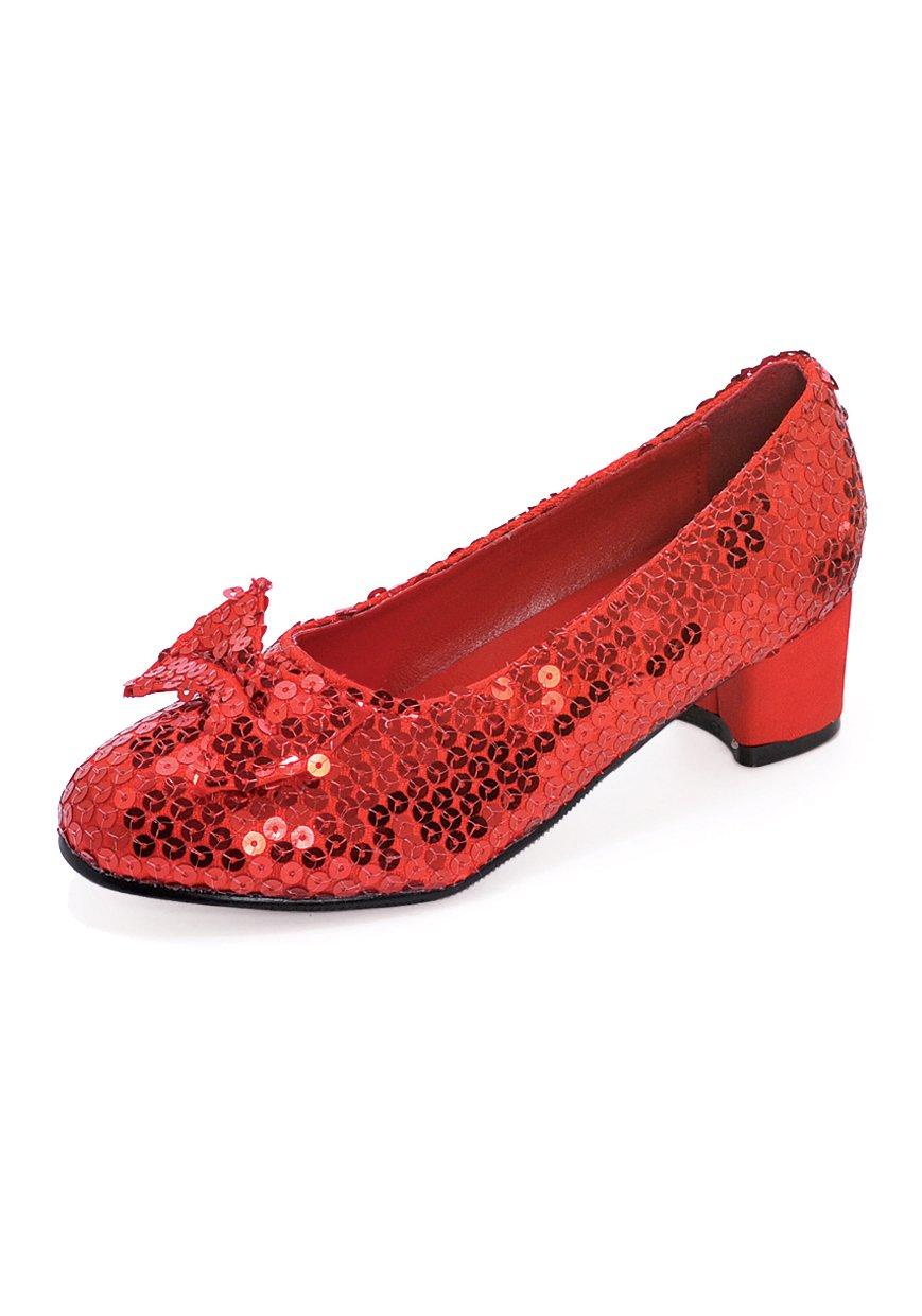 Ellie Children's Shoe 153-JUDY 1 Heel Sequined Slipper Shoe ellie shoes anita  красный туфли с
