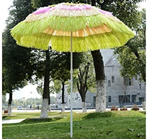 Outsunny Outdoor Tiki Thatch Patio Umbrella