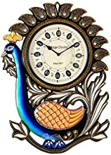 Vintage Clock Peacock Design