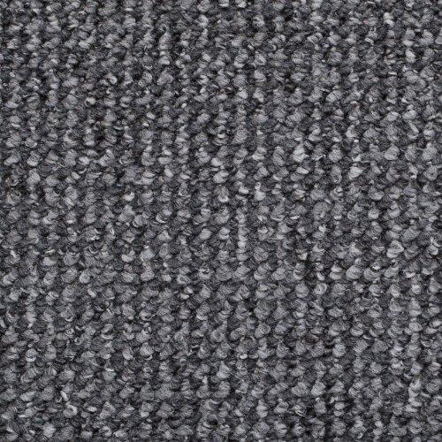 Grey  &  Silver Flecked Carpet Roll,Feltback Hardwearing Berber Loop Pile
