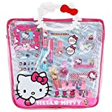 Sanrio Hello Kitty Girls Cosmetics Set In Pvc Tote Bag (16 Piece)