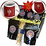Beverly Turner Design - Gold Dragon, Happy New Year in Chinese, 2012 - Coffee Gift Baskets - Coffee Gift Basket (cgb_11801_1)