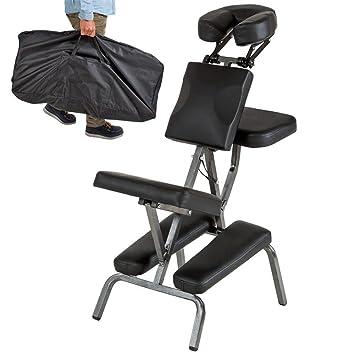 Massaggio Sedia Portatile pieghevole Poltrona da massaggio Pelle tampone Professionale Regolabile Massaggio Sgabello Con Trasportare Borsa