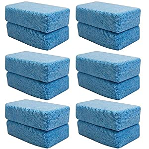 Chemical Guys MIC292XL12 Premium Grade Microfiber Applicator, XL - 6.5 in. x 4 in. x 1.5 in. (Pack of 12) by Chemical Guys