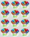 12 21st Birthday rice paper fairy cup cake 40mm toppers pre cut decoration