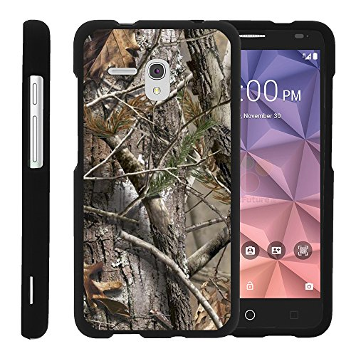 Case for Alcatel Fierce XL Phone Case - Perfect Fit Cell Phone Case Hard Cover with Cute Design Patterns for Alcatel Fierce XL by MINITURTLE - Tree Bark Hunter Camouflage
