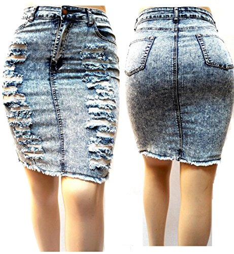 sexy womens plus size stretch distressed ripped acid wash