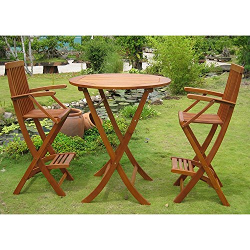 International-Caravan-Carmona-Folding-Bar-Height-Bistro-Set