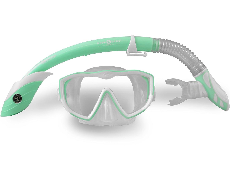 Aqua lung snorkel set above told