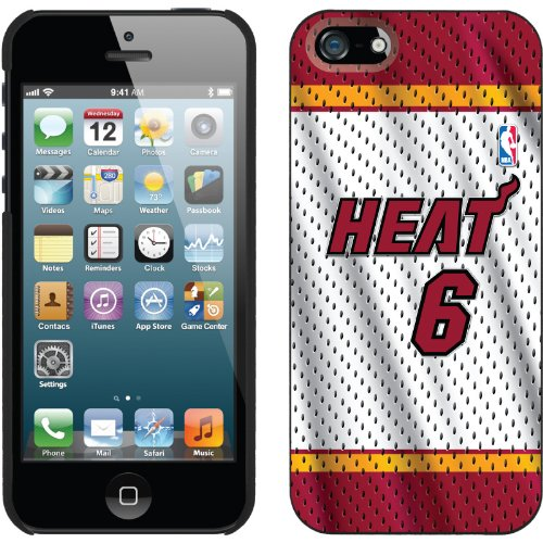 Special Sale LeBron James - Home Jersey Front design on a Black iPhone 5s / 5 Thinshield Snap-On Case by Coveroo
