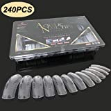 240PCS Dual Forms Nail Mold for Polygel UV Gel Nail 12 Size With Scale Best Gift (Color: 240PCS/Case Dual Forms)