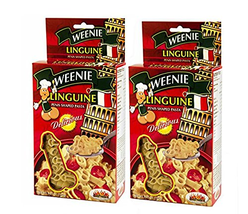 Weenie Linguine Pecker Pasta - Pecker Shaped Pasta (2 Pack) (Adult Pasta compare prices)