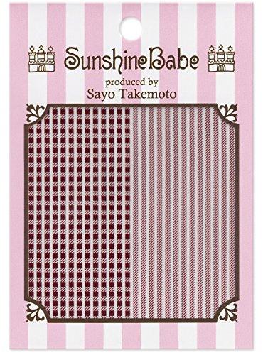 SunshineBabe ネイルシール シェパードチェック ワイン 1.5mm