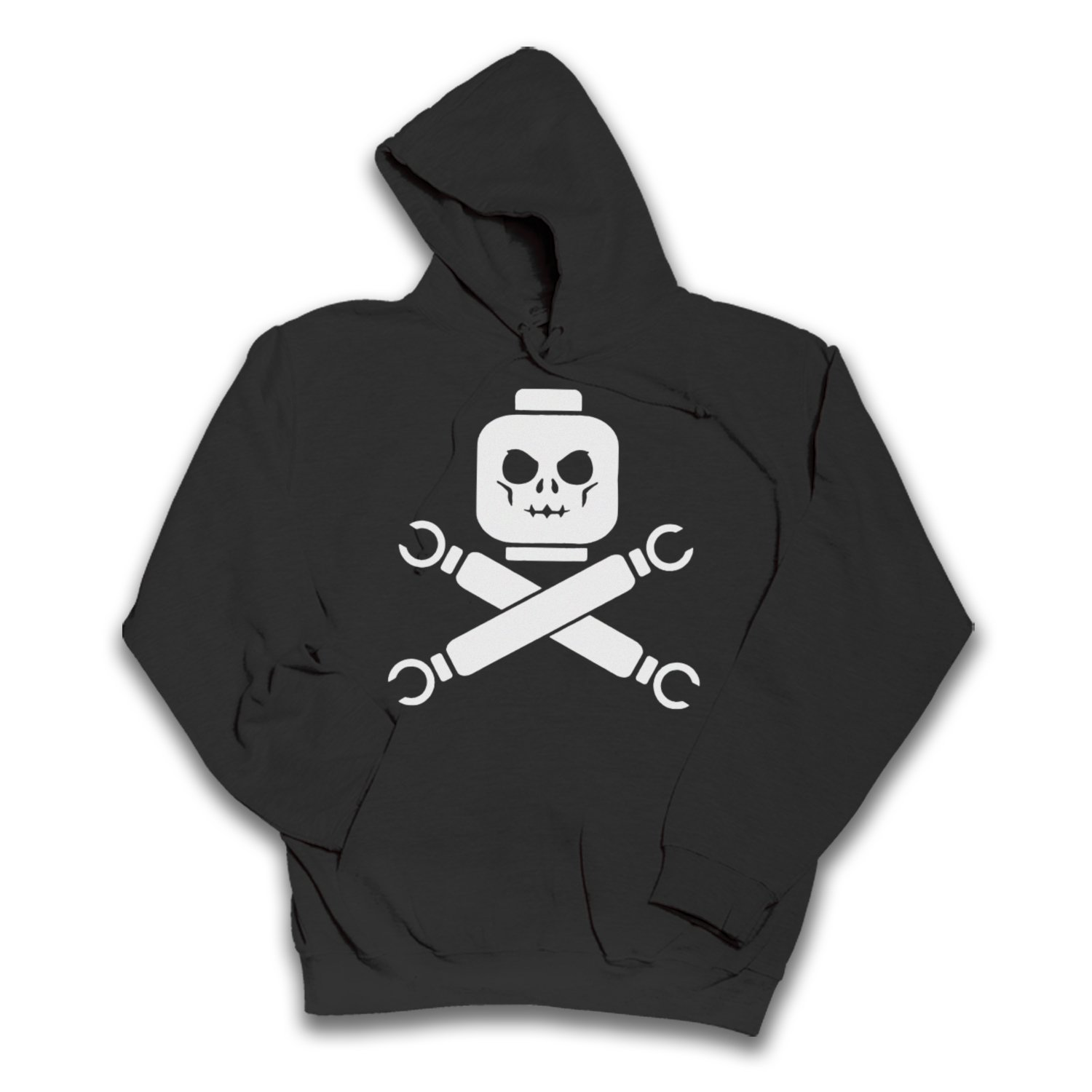 Lego Skull and Cross Bones Unisex Hoodie. All Sizes (Small med large XL XXL 3X 4X 5XL)
