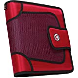 Case-it Open Tab Velcro Closure 2-Inch Binder with Tab File, Red, S-816-RED