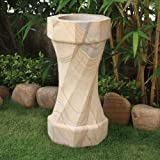 Garden Bird Bath Feeder - Twister Design Stone Birdbath