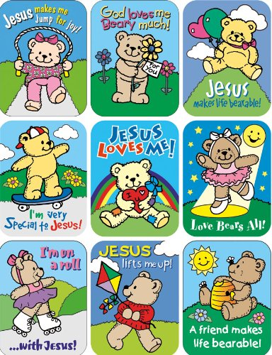 Eureka Bears Inspirational Stickers