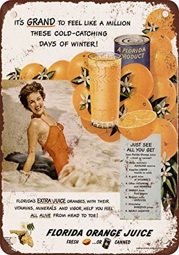1950-florida-orange-juice-vintage-look-reproduction-metal-tin-sign-12x18-inches