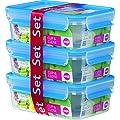 Emsa 508558 Clip & Close 3D 3-er Set, 1.0 L gestapelt