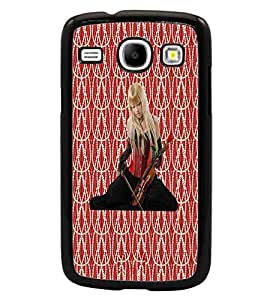 PrintDhaba Violin Girl D-3015 Back Case Cover for SAMSUNG GALAXY CORE i8262 (Multi-Coloured)