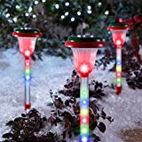 Light Show Shooting Stars Pathway Christmas Stakes Lights Multi-Color