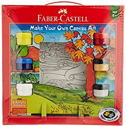 Faber-Castell Make Your Own Canvas Art Kit, Aqua - 6 Shades