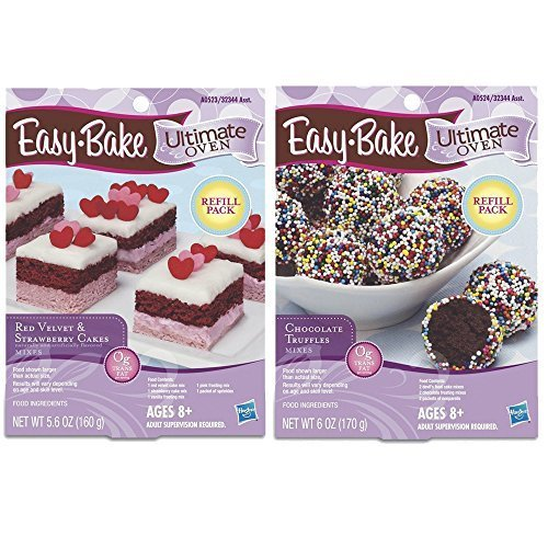 easy-bake-2-pack-oven-refill-red-velvet-strawberry-cakes-56-oz-and-chocolate-truffle-mixes-6-oz-by-h