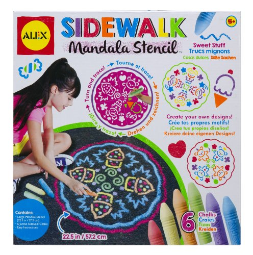 ALEX Toys Artist Studio Sidewalk Mandala with Sweet Stuff Designs