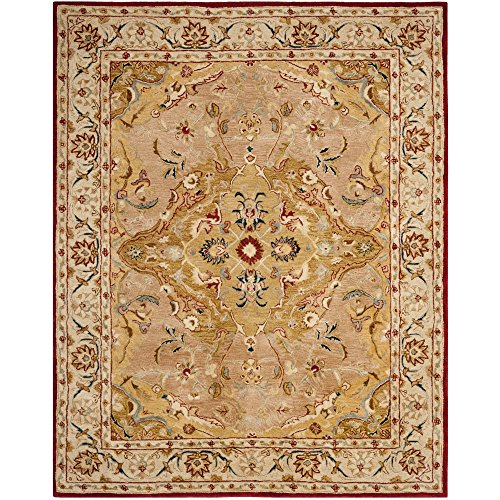 Safavieh Anatolia Collection AN534A Handmade Gold and Ivory Wool Area Rug, 6 feet by 9 feet (6' x 9')