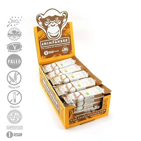 Chimpanzee Protein RAWkost Riegel Peanut Butter 25 Stuck - BIO RAW Paleo Vegetarisch Glutenfrei Superfood Rohkost Proteinriegel - 45g x 25 Stuck