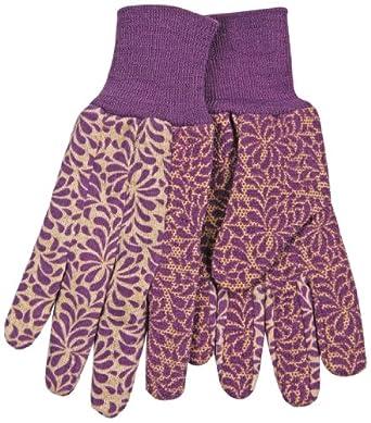 Kinco 1010PDW Jersey Fabric Women's Glove with PVC Dots, Work, Rose/Purple (12 Pairs per Dozen)