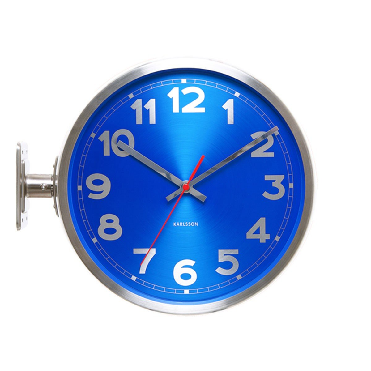 Karlsson Double Sided Stainless Steel Wall Clock, Blue       reviews and more news