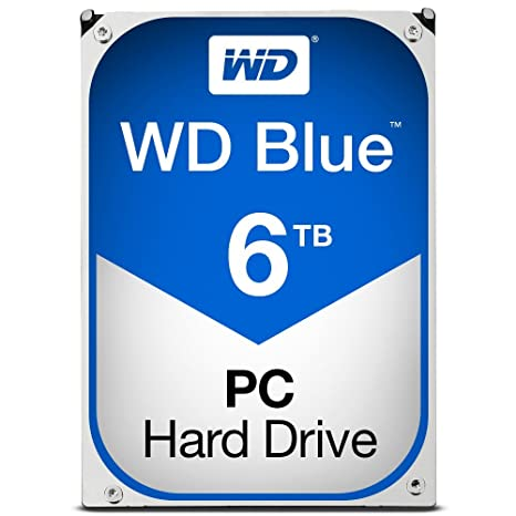 WD Blue 6TB Internal Hard Drive ( WD60EZRZ) at amazon