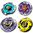 Beyblade Combo 4 Pack Hell Hades Kerbecs 4D + Blitz Unicorno 4D + Scythe Kronos Metal 4D + Earth Eagle Aquila 4D // SHIPPED AND SOLD FROM US
