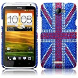 HTC One X Original Union Jack Diamante Case / Cover / Shell / Shield Part Of The Qubits Accessories Rangeby Qubits