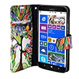 Lumia 550 Wallet Case - Mstechcorp, Magnetic Slim Folio Design Wallet Pouch Microsoft Lumia 550 Phone case - Includes Accessories (Artistic Tree)