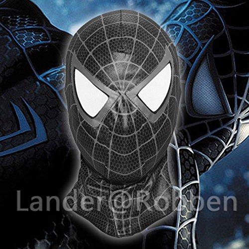 [The Amazing Spider Man Black Mask Cosplay Hood Spider-Man 3 Venom Full Face Mask] (The Amazing Spider Man 2 2016 Costume)