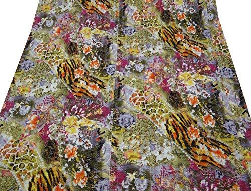 Kantha Stitch Gudri algodón acolchado de flores Queen Patrón Tamaño decorativo Reversible Colcha 88